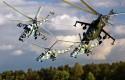 Podniebny balet na Mi-24 zrywa się do pokazu